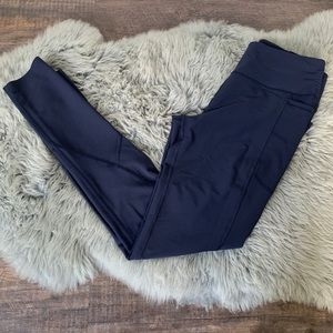 Victoria Sport Total Knockout Navy Blue Tights Med